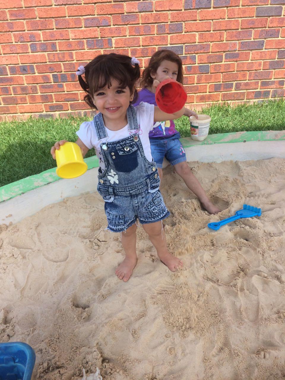 Montessori Preschool Fun In The Sand Pit